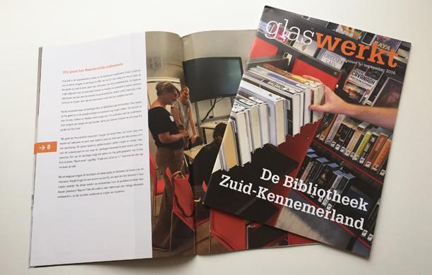 Magazine Glas Werkt voor De Bibliotheek Zuid-Kennemerland