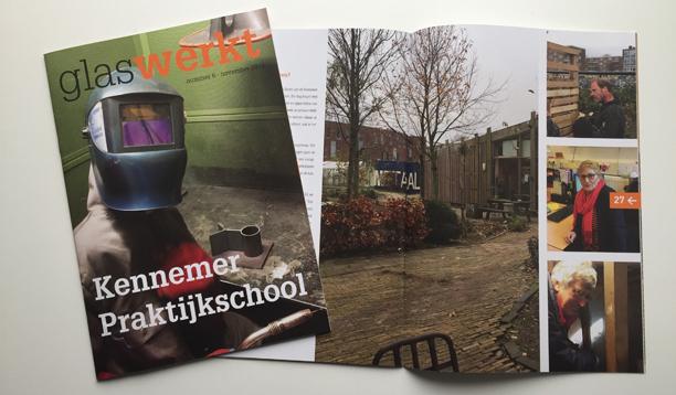 Magazine Glas Werkt voor de Kennemer Praktijkschool