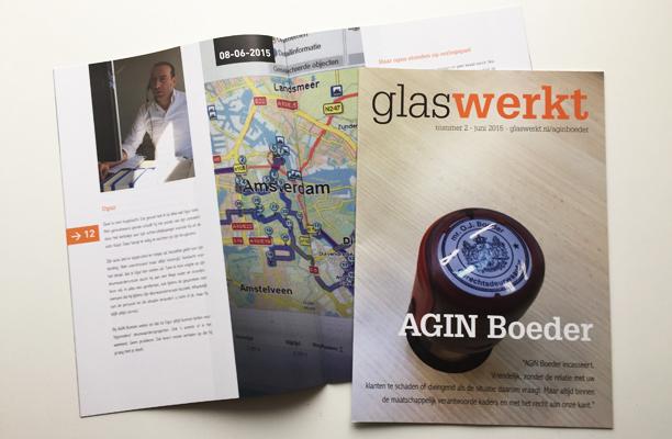 Magazine Glas Werkt voor AGIN Boeder